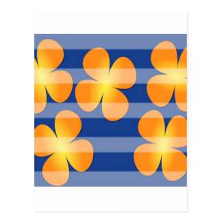 抽象的な花の花のスタンプ ポストカード
