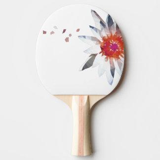 抽象的な花の芸術の赤い卓球ラケット 卓球ラケット
