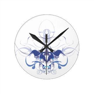 抽象的な花の要素 ラウンド壁時計
