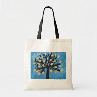 抽象的な花盛りの木のバッグ トートバッグ