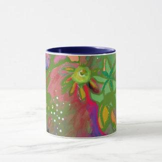 抽象的な花花束のマグ マグカップ