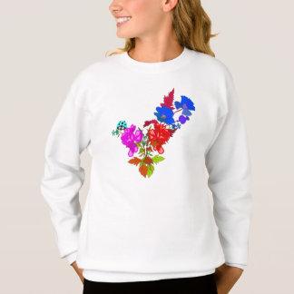 抽象的な花 スウェットシャツ
