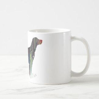 抽象的な英国セッターのシルエット コーヒーマグカップ