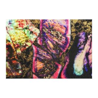 抽象的な落書きの海の沈殿物の瑪瑙のキャンバス キャンバスプリント