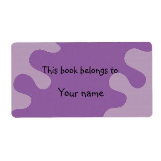 抽象的な薄紫の蔵書票 ラベル