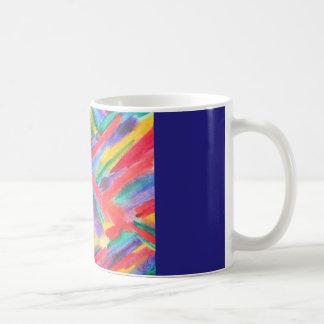 抽象的な虹の水彩画 コーヒーマグカップ