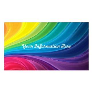 抽象的な虹の渦巻の名刺