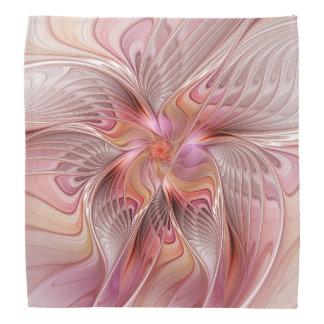 抽象的な蝶カラフルなファンタジーのフラクタルの芸術 バンダナ