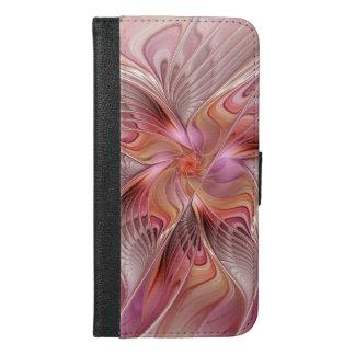 抽象的な蝶カラフルなファンタジーのフラクタルの芸術 iPhone 6/6S PLUS ウォレットケース