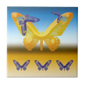 抽象的な蝶装飾的なタイル タイル