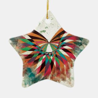 抽象的な蝶2 セラミックオーナメント