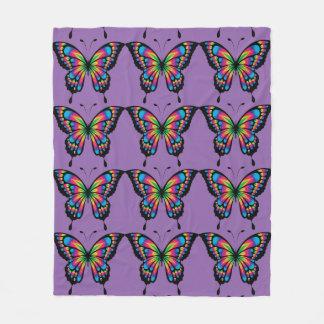 抽象的な蝶 フリースブランケット