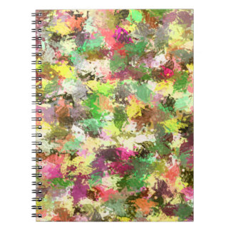 抽象的な螺線形のつなぎの秋のカラフルな葉 ノートブック