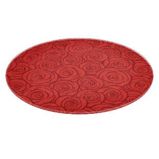 抽象的な赤いバラの背景 カッティングボード