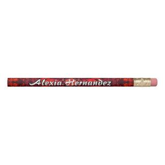 抽象的な赤くおよび黒い 鉛筆