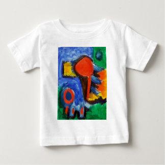 抽象的な赤ゼロ ベビーTシャツ
