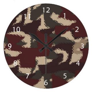抽象的な軍のカムフラージュパターン 時計