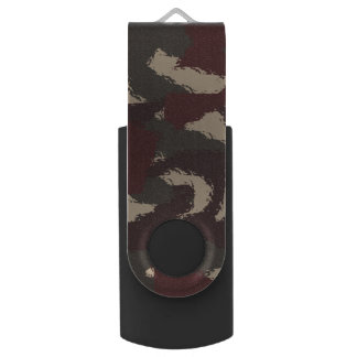 抽象的な軍のカムフラージュパターン USBフラッシュドライブ