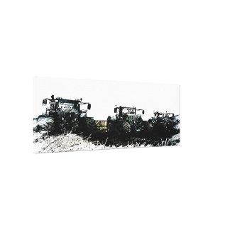 抽象的な農場トラクターのギャラリーの包まれたなキャンバス キャンバスプリント