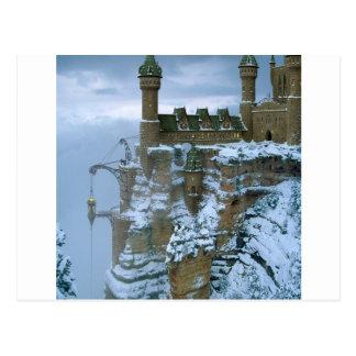 抽象的な都市小妖精や小人の王国 ポストカード