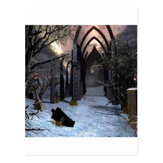 抽象的な都市暗闇の芸術 ポストカード