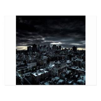 抽象的な都市暗闇都市 ポストカード