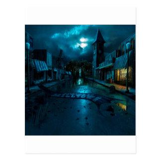 抽象的な都市暗闇Milltown ポストカード