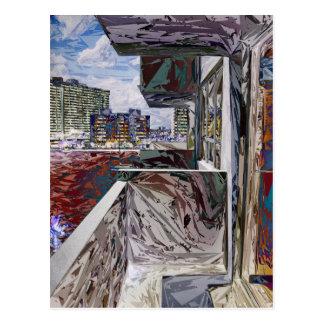 抽象的な都市構造 ポストカード