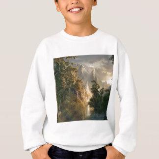 抽象的な都市王国ライト スウェットシャツ