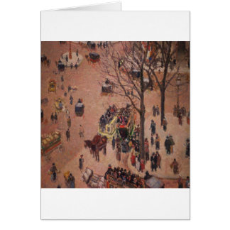 抽象的な都市都市公平で忙しい日 カード