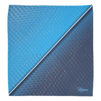 抽象的な金属は表面の質をgradien。モノグラム バンダナ
