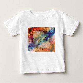 抽象的な銀河系によって大理石模様にされる芸術 ベビーTシャツ