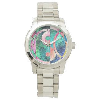 抽象的な陰陽の星雲の腕時計 腕時計