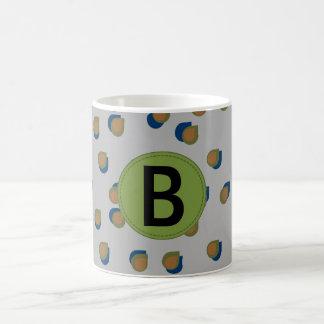 抽象的な雨滴の手紙のマグ コーヒーマグカップ