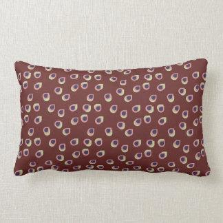 抽象的な雨滴の枕 ランバークッション