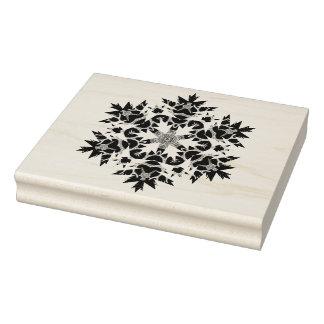 抽象的な雪片パターン芸術のスタンプ ラバースタンプ
