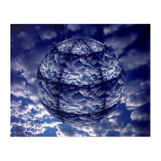 抽象的な雲3D球 アクリルウォールアート