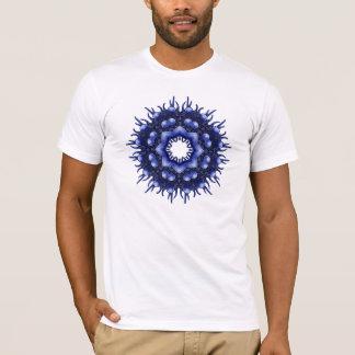 抽象的な青はす Tシャツ