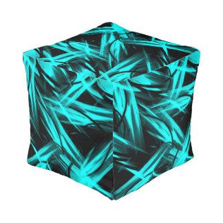 抽象的な青及び黒い プーフ