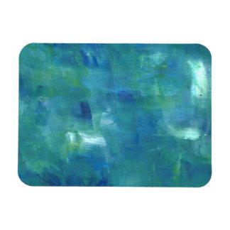 抽象的な青緑の感情 マグネット