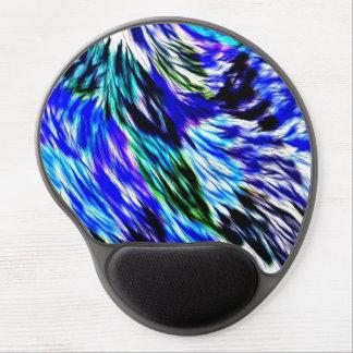抽象的な青緑白い紫色パターン ジェルマウスパッド