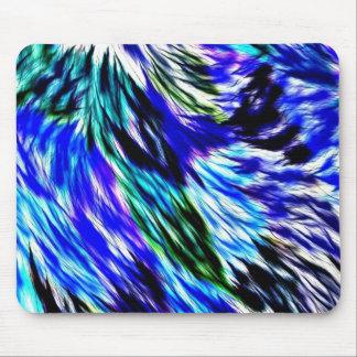 抽象的な青緑白い紫色パターン マウスパッド