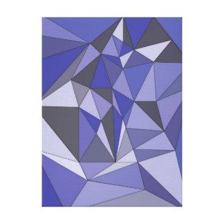 抽象的な青 キャンバスプリント