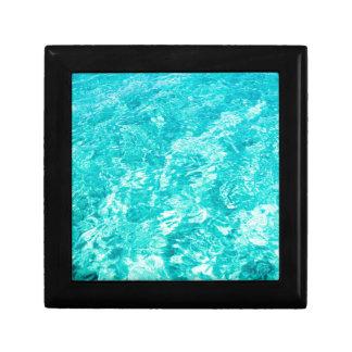 抽象的な青 ギフトボックス