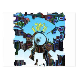 抽象的な青 ポストカード