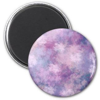 抽象的な青、薄紫、ピンクのアクリルの一見 マグネット