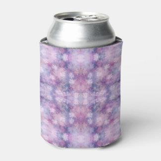 抽象的な青、薄紫、ピンクのアクリルの一見 缶クーラー