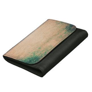 抽象的な革財布のカッコいいのグランジなヴィンテージの芸術 ウォレット