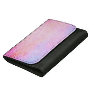 抽象的な革財布のスタイリッシュでグランジなヴィンテージ ウォレット