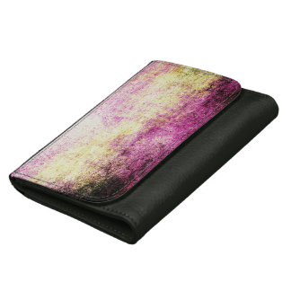 抽象的な革財布の熱狂するでグランジなヴィンテージの芸術 ウォレット